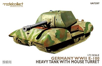 Picture of German WWII  E-100 heavy tank with mouse turret
